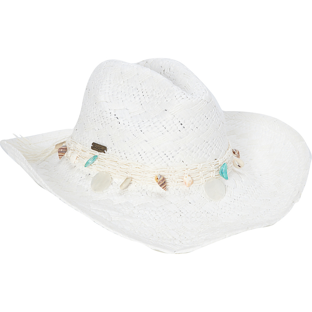 Sun N Sand Western Shell Hat One Size - White - Sun N Sand Hats/Gloves/Scarves - Fashion Accessories, Hats/Gloves/Scarves