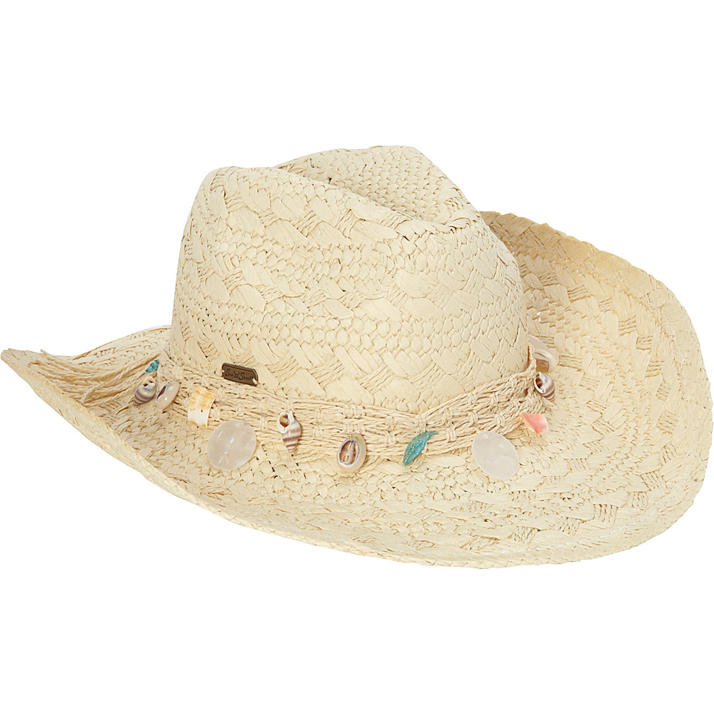 Sun N Sand Western Shell Hat One Size - Natural - Sun N Sand Hats/Gloves/Scarves - Fashion Accessories, Hats/Gloves/Scarves