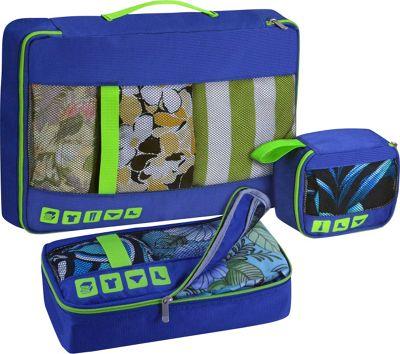 U.S. Traveler Alamosa 3-Piece Packing Cube Set Royal Blue - U.S. Traveler Travel Organizers