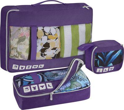 U.S. Traveler Alamosa 3-Piece Packing Cube Set Purple - U.S. Traveler Travel Organizers