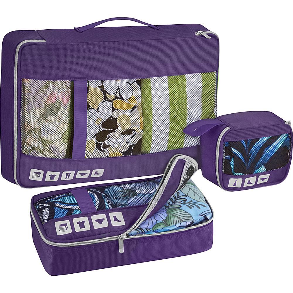 U.S. Traveler Alamosa 3 Piece Packing Cube Set Purple U.S. Traveler Travel Organizers