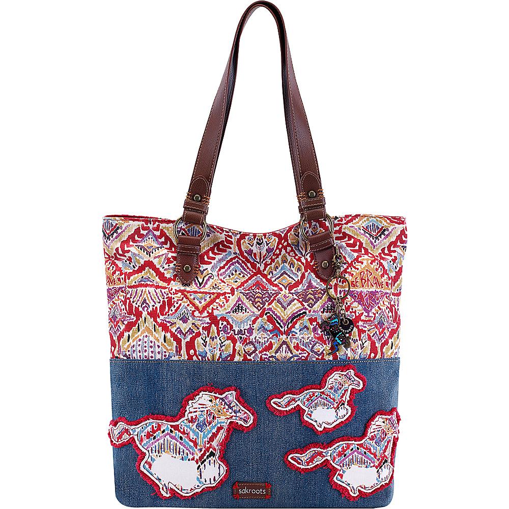 Sakroots Artist Circle Soft Tote Sweet Red Brave Beauti - Sakroots Designer Handbags
