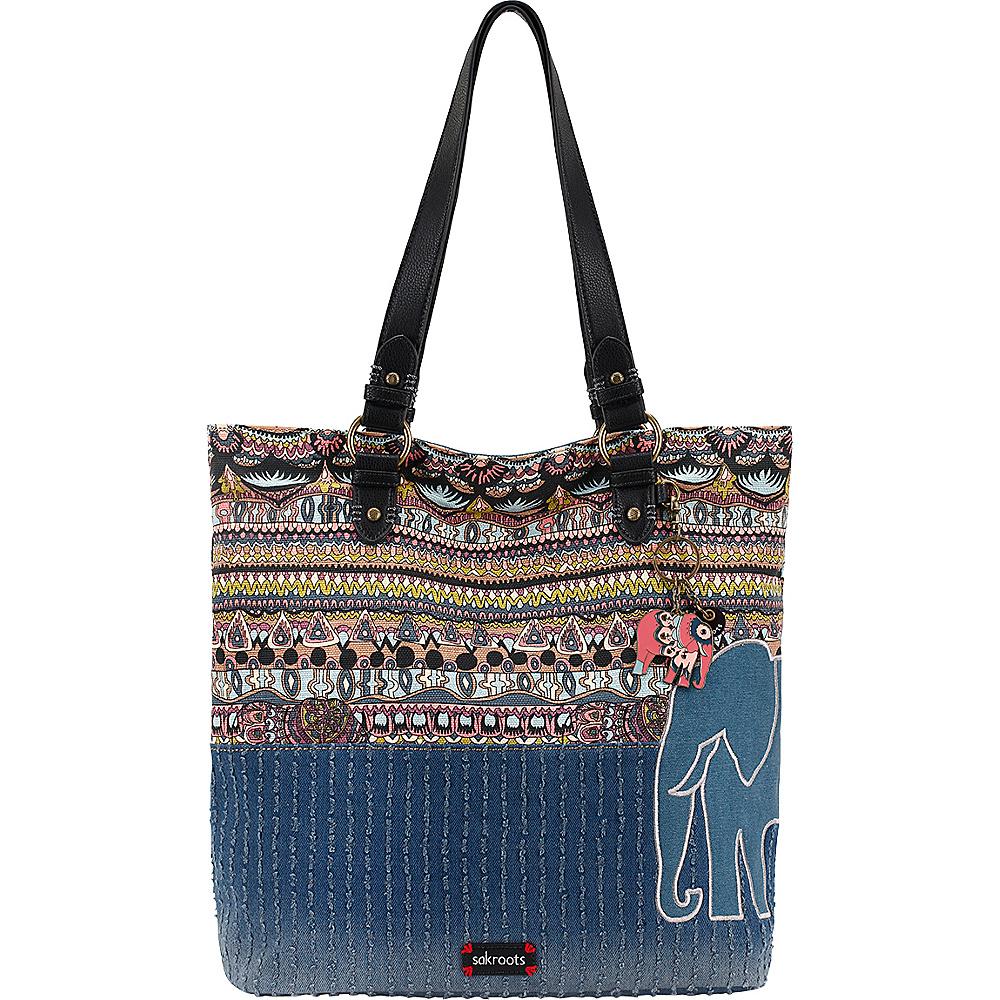 Sakroots Artist Circle Soft Tote Taupe One World - Sakroots Designer Handbags