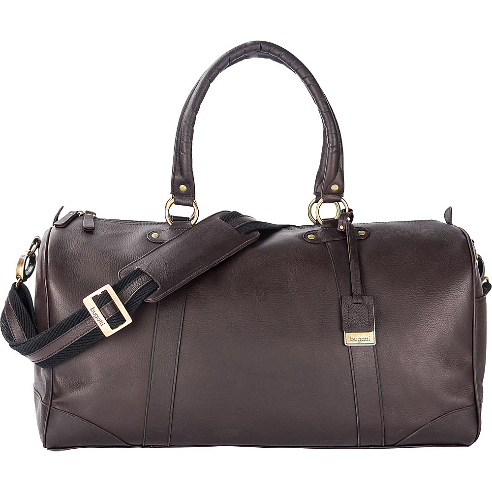 Bugatti Perreira Duffle Bag Leather Brown Bugatti Travel Duffels