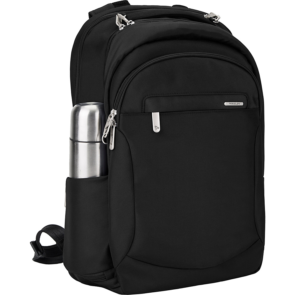 Travelon Anti-Theft Classic Large Backpack Black/Gray - Travelon Business & Laptop Backpacks - Backpacks, Business & Laptop Backpacks