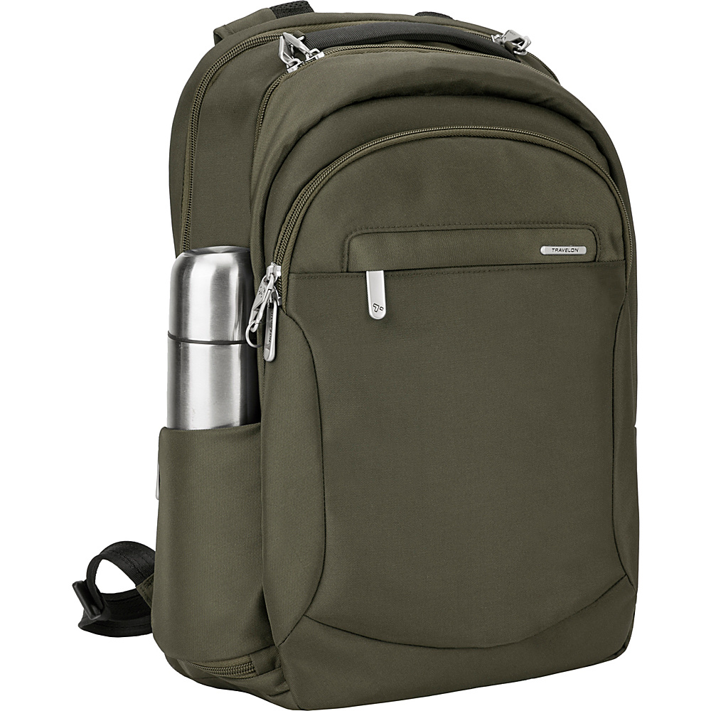 Travelon Anti-Theft Classic Large Backpack Olive/Gray - Travelon Laptop Backpacks