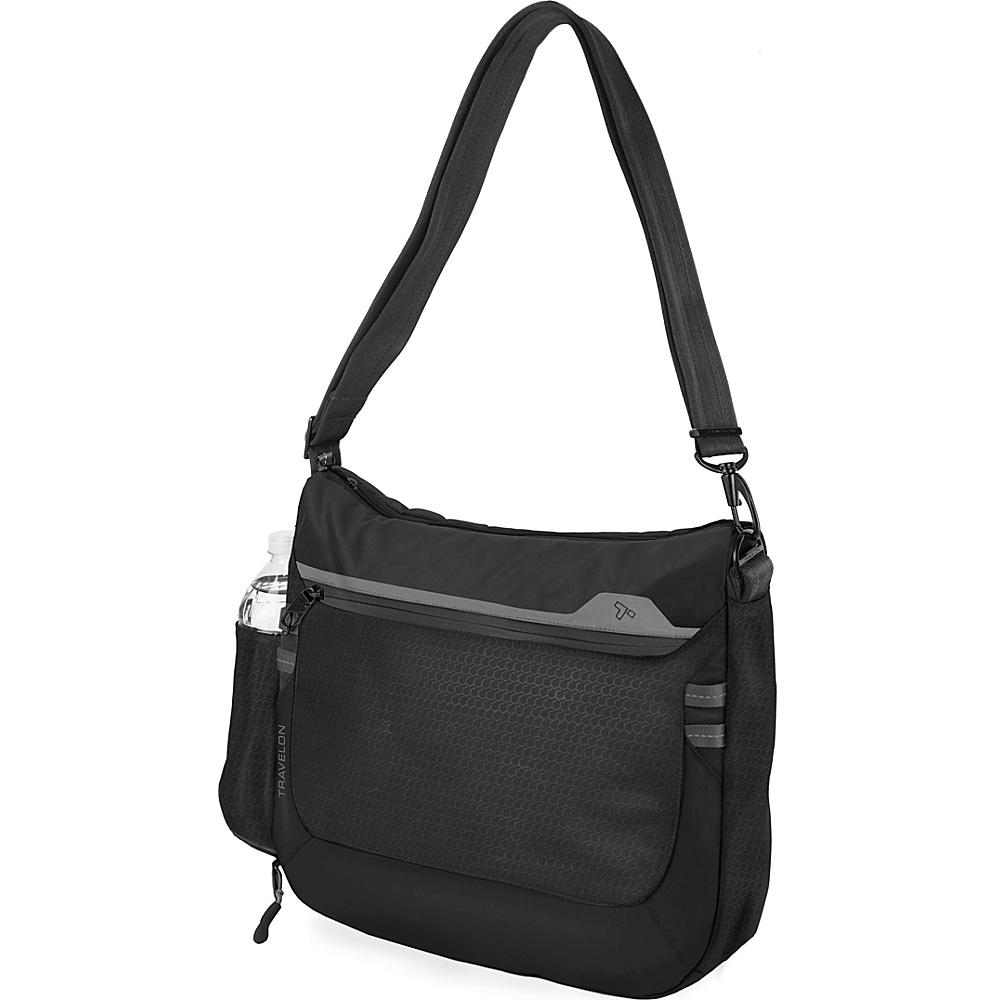 Travelon Anti-Theft Active Medium Crossbody Bag Black - Travelon Fabric Handbags - Handbags, Fabric Handbags