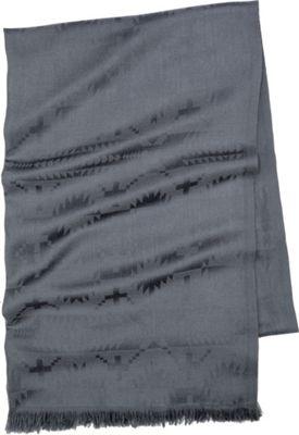 Pendleton Luxe Weave Wool Scarf Grey - Pendleton Hats/Gloves/Scarves