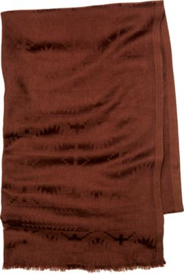 Pendleton Luxe Weave Wool Scarf Chocolate - Pendleton Hats/Gloves/Scarves