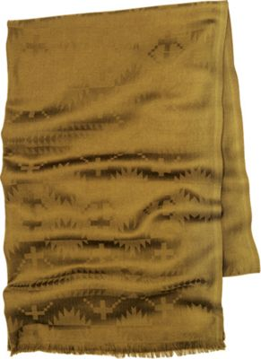 Pendleton Luxe Weave Wool Scarf Olive - Pendleton Hats/Gloves/Scarves