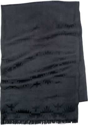 Pendleton Luxe Weave Wool Scarf Black - Pendleton Hats/Gloves/Scarves