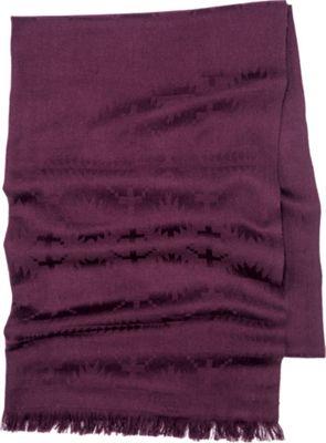 Pendleton Luxe Weave Wool Scarf Wine - Pendleton Hats/Gloves/Scarves