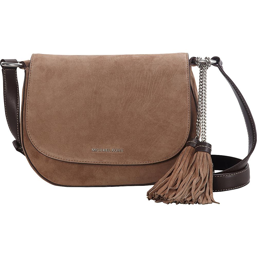 MICHAEL Michael Kors Elyse Large Saddle Bag Dark Dune - MICHAEL Michael Kors Designer Handbags