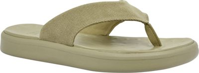 SoftScience SoftScience Unisex Skiff Canvas Flip Flop Men's 9/Women's 11 - Khaki - SoftScience Men's Footwear