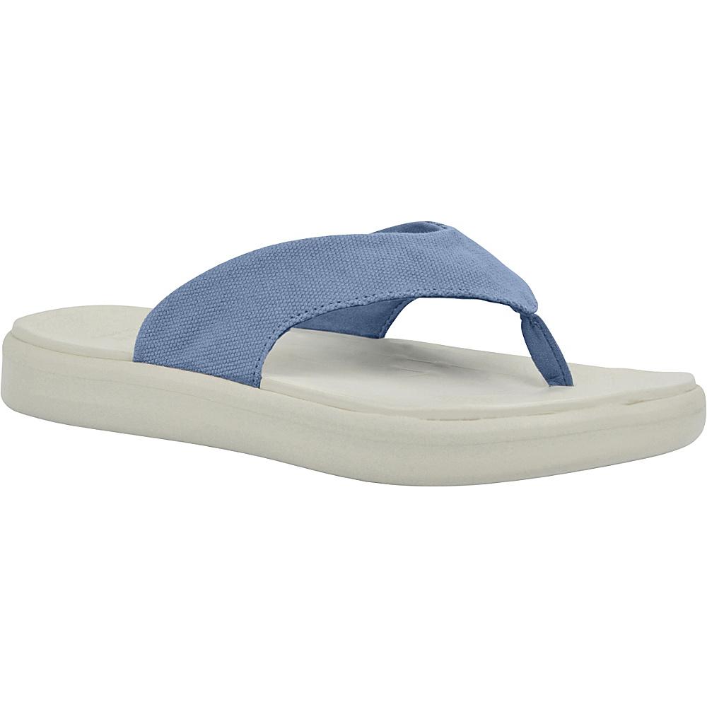 SoftScience Unisex Skiff Canvas Flip Flop Men s 5 Women s 7 Light Blue SoftScience Men s Footwear