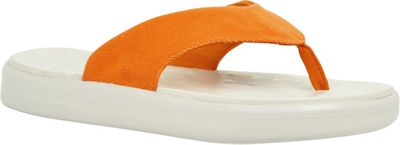 SoftScience Unisex Skiff Canvas Flip Flop Men's 12/Women's 14 - Light Orange - SoftScience Men's Footwear