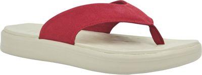 SoftScience Unisex Skiff Canvas Flip Flop Men's 12/Women's 14 - Red - SoftScience Men's Footwear