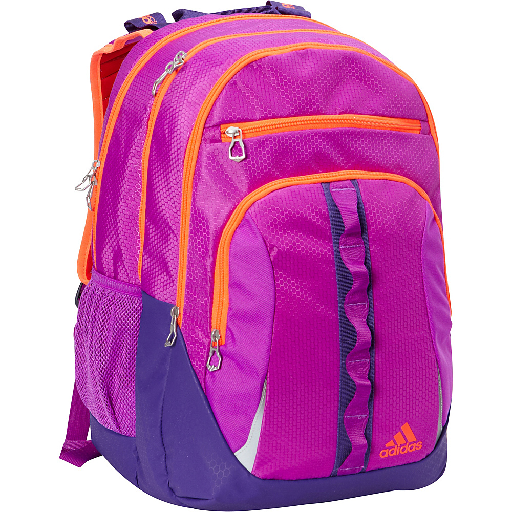 adidas Prime II Laptop Backpack Shock Purple/Unity Purple/Solar Red - adidas Business & Laptop Backpacks