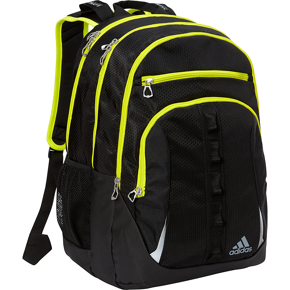 adidas Prime II Laptop Backpack Black/Solar Yellow - adidas Business & Laptop Backpacks