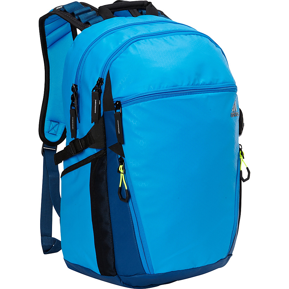 adidas Skyline Laptop Backpack Bright Blue/Tech Steel/Black/Solar Yellow - adidas Laptop Backpacks