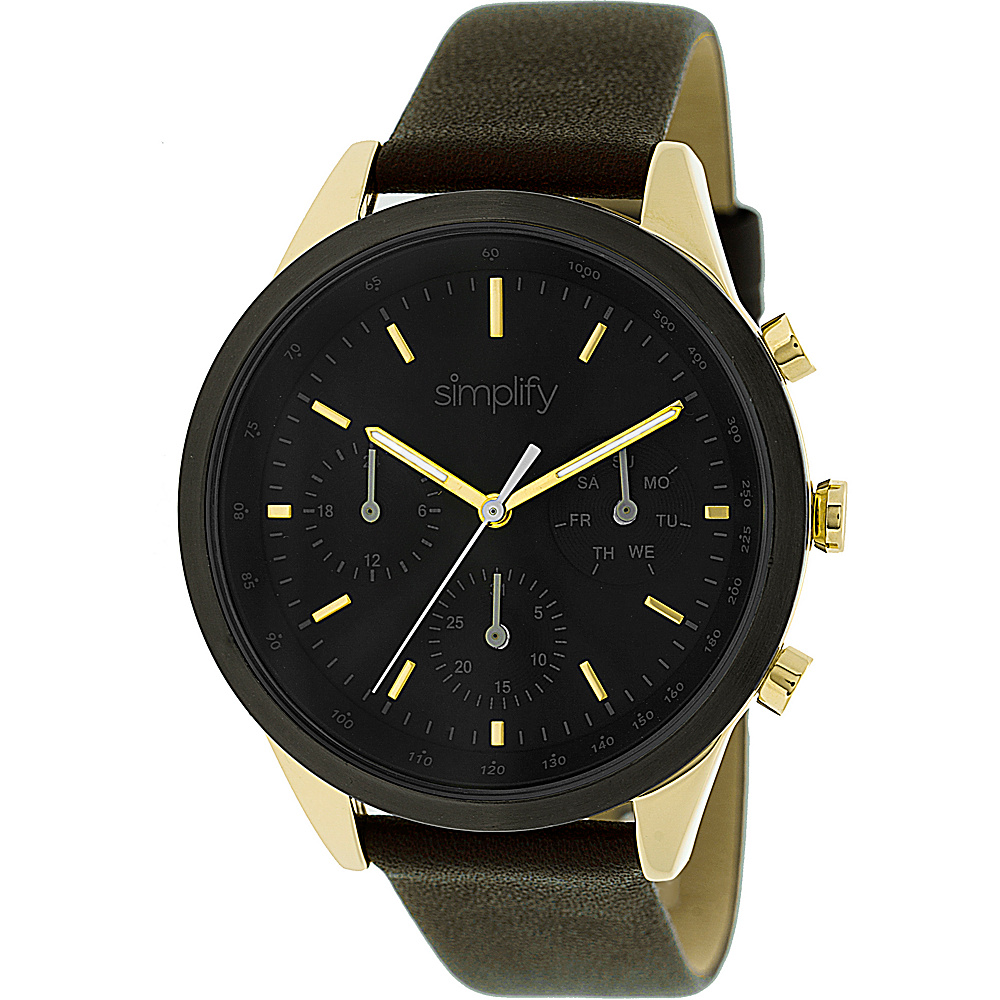 Simplify 3800 Unisex Watch Brown Gold Black Simplify Watches
