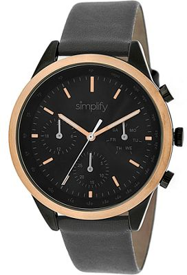 Simplify 3800 Unisex Watch Charcoal/Gold/Black - Simplify Watches