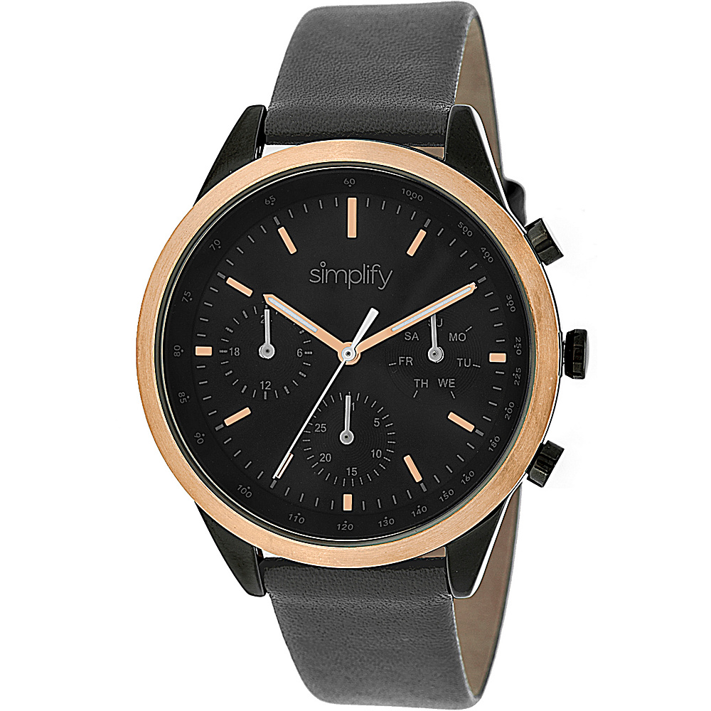 Simplify 3800 Unisex Watch Charcoal Gold Black Simplify Watches