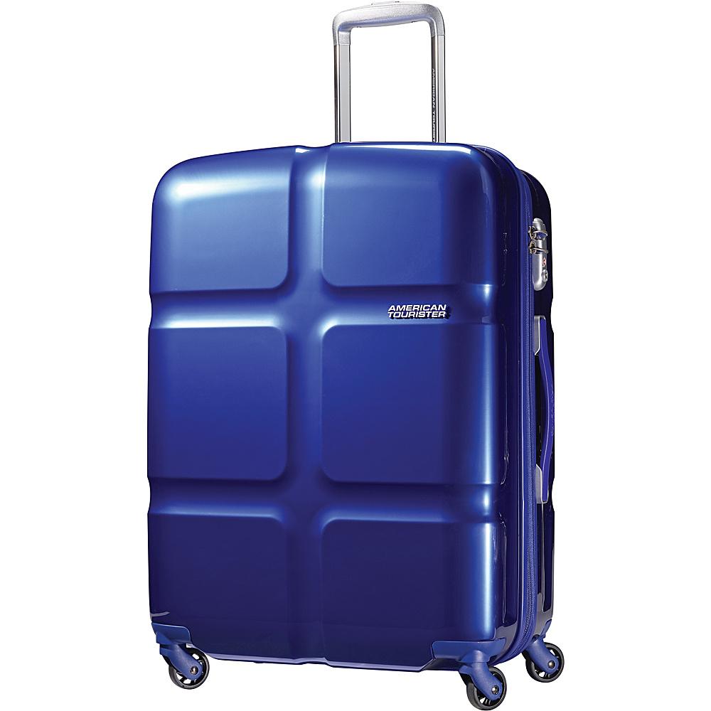 """American Tourister PC Lite Hardside Spinner 24"""" Luggage Blue - American Tourister Hardside Checked"""