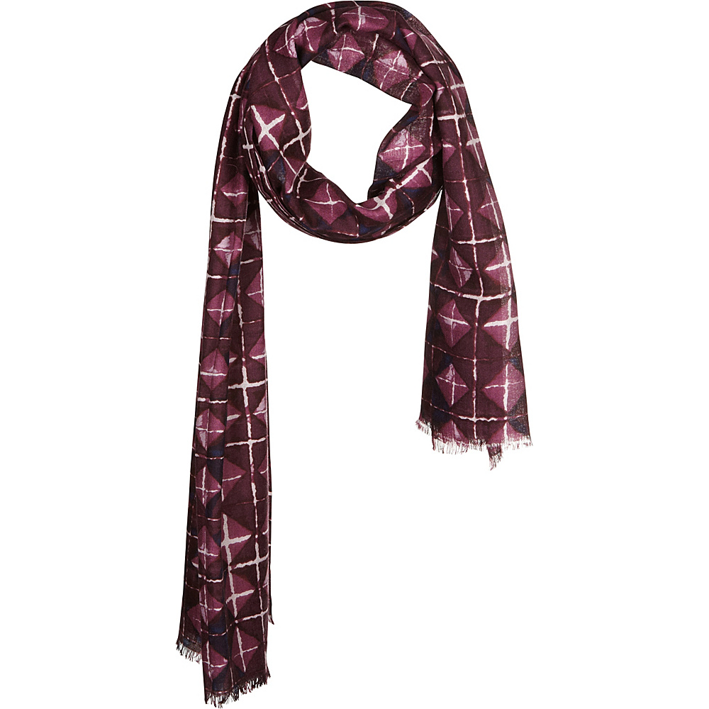 Kinross Cashmere Beach Tile Print Scarf Port Multi - Kinross Cashmere Hats/Gloves/Scarves - Fashion Accessories, Hats/Gloves/Scarves