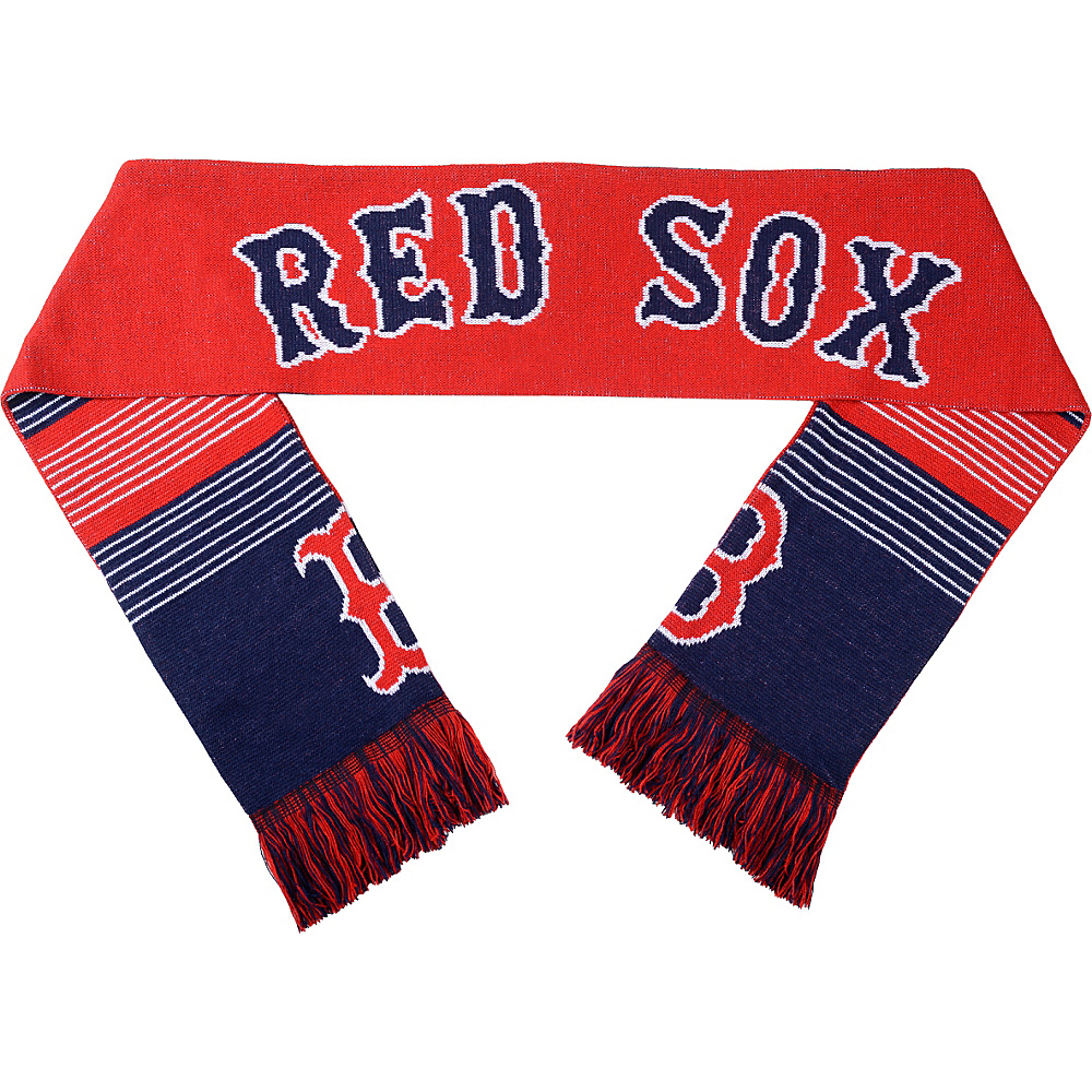 Forever Collectibles MLB Reversible Split Logo Scarf Red Boston Red Sox Forever Collectibles Hats Gloves Scarves