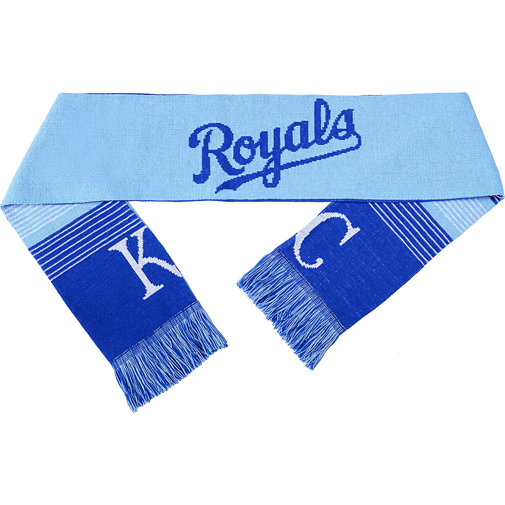 Forever Collectibles MLB Reversible Split Logo Scarf Blue Kansas City Royals Forever Collectibles Hats Gloves Scarves