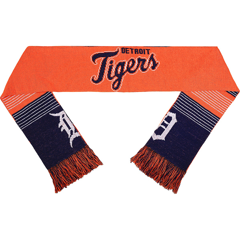 Forever Collectibles MLB Reversible Split Logo Scarf Blue Detroit Tigers Forever Collectibles Hats Gloves Scarves