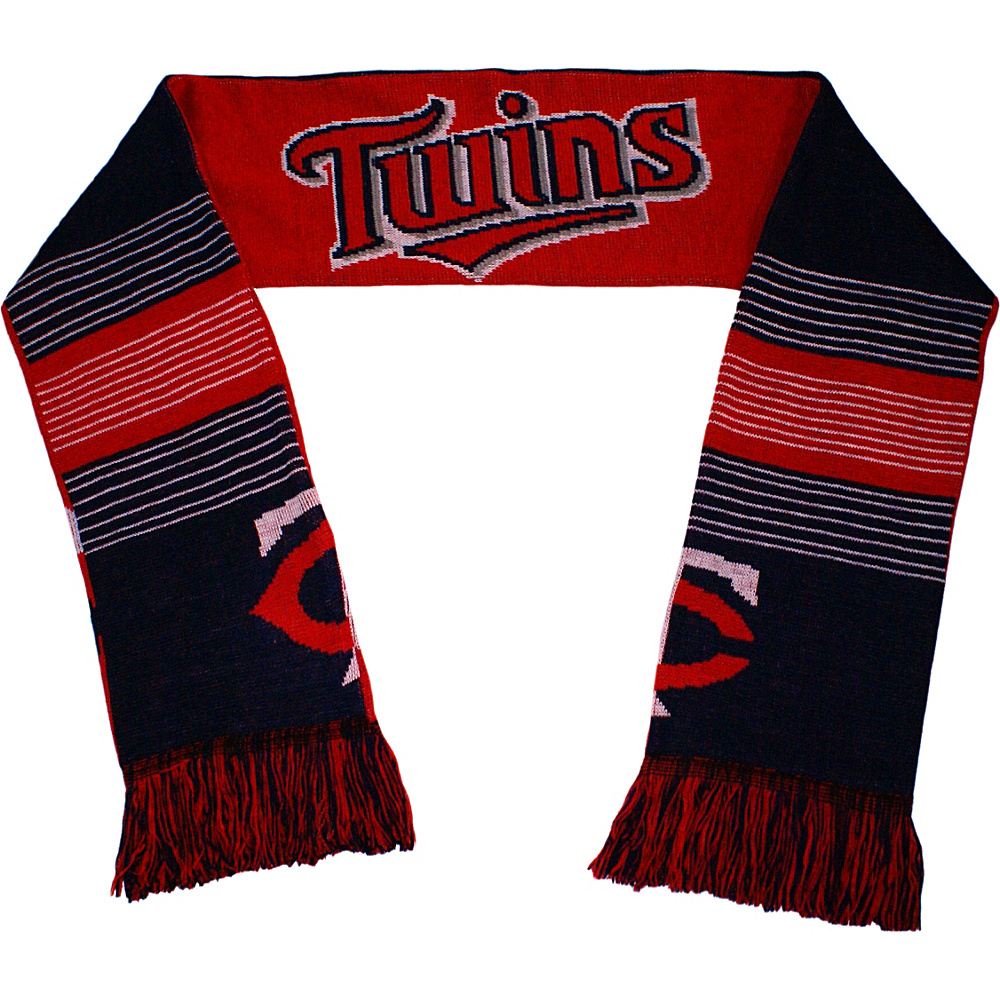 Forever Collectibles MLB Reversible Split Logo Scarf Red Minnesota Twins Forever Collectibles Hats Gloves Scarves