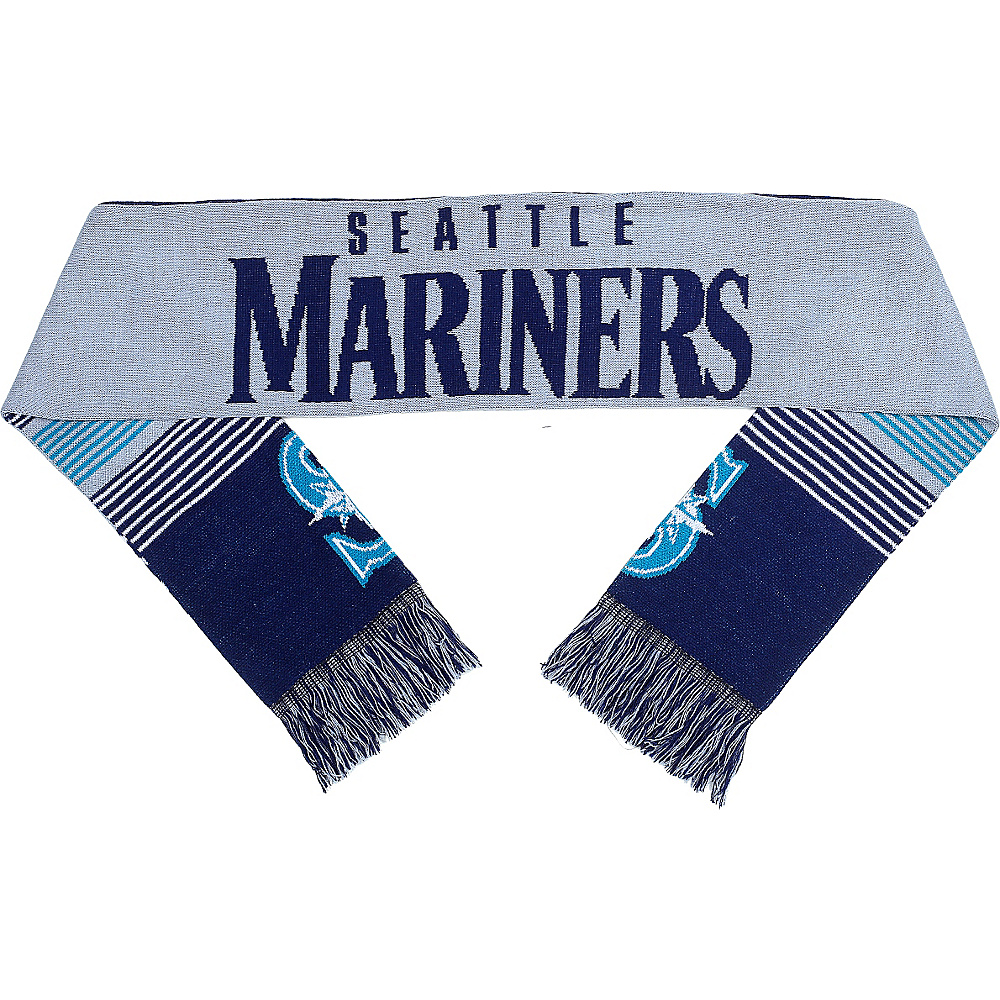 Forever Collectibles MLB Reversible Split Logo Scarf Blue Seattle Mariners Forever Collectibles Hats Gloves Scarves