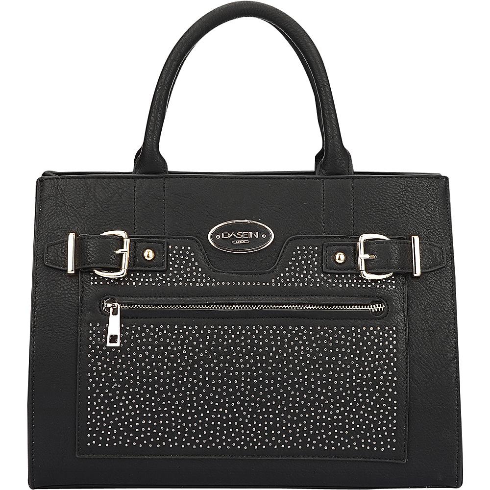 Dasein Belted Medium Tote Bag Black - Dasein Manmade Handbags - Handbags, Manmade Handbags