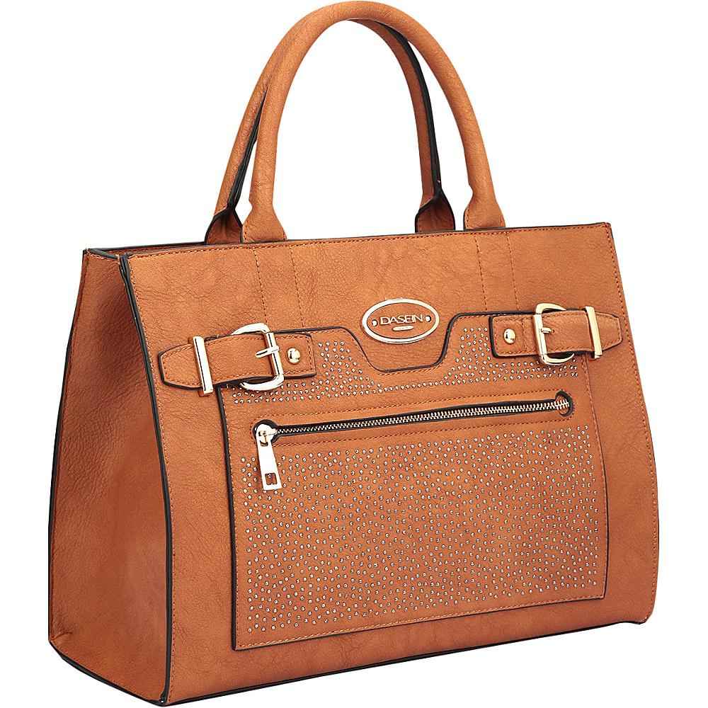 Dasein Belted Medium Tote Bag Brown - Dasein Manmade Handbags - Handbags, Manmade Handbags
