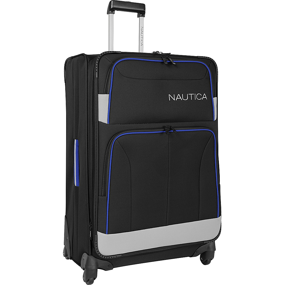 "Nautica Shipline 28"" Expandable Spinner Blk/Gry/Cbbl - Nautica Softside Checked"