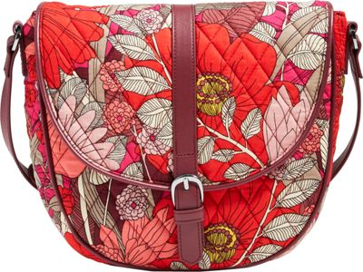 Vera Bradley Slim Saddle Bag - Retired Prints Bohemian Blooms - Vera Bradley Fabric Handbags