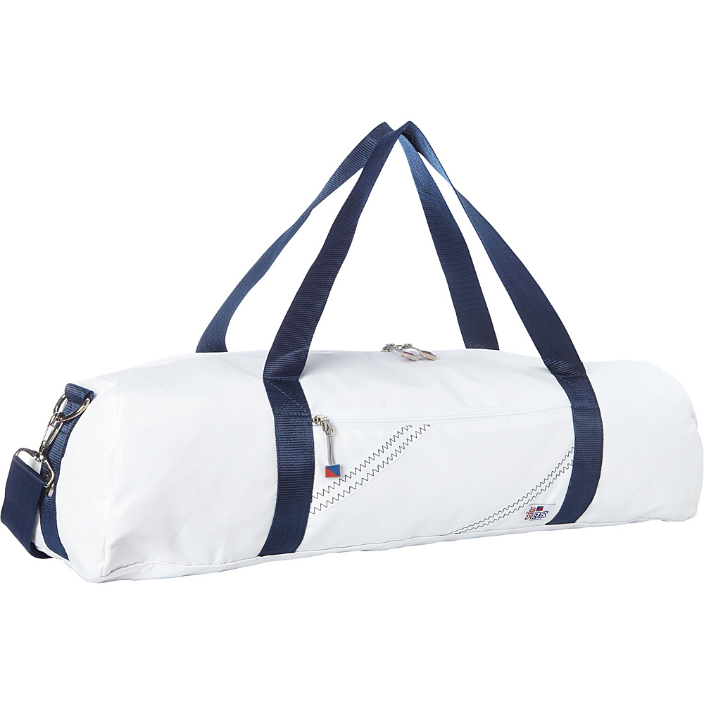 SailorBags Chesapeake Yoga Bag White with Blue Trim SailorBags Other Sports Bags