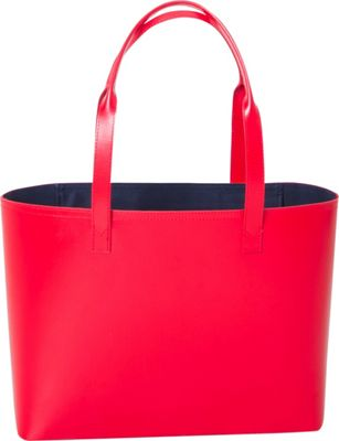Paperthinks Small Tote Bag Scarlet - Paperthinks Leather Handbags