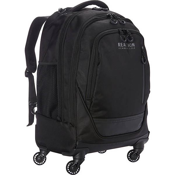 kenneth cole reaction roll on back 4 wheeled double compartment 17 computer backpack. Black Bedroom Furniture Sets. Home Design Ideas