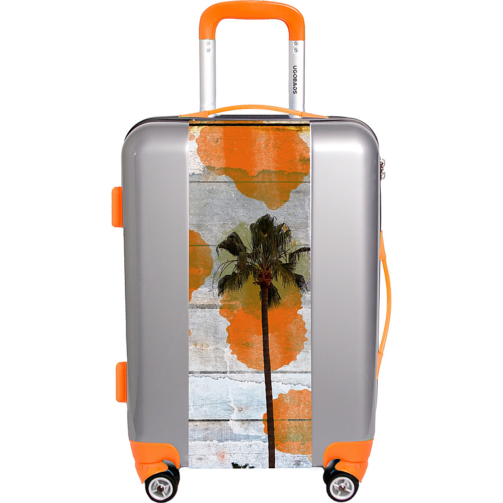 "Ugobags California Dreaming By Irena Orlov 31"" Luggage Silver - Ugobags Softside Checked"