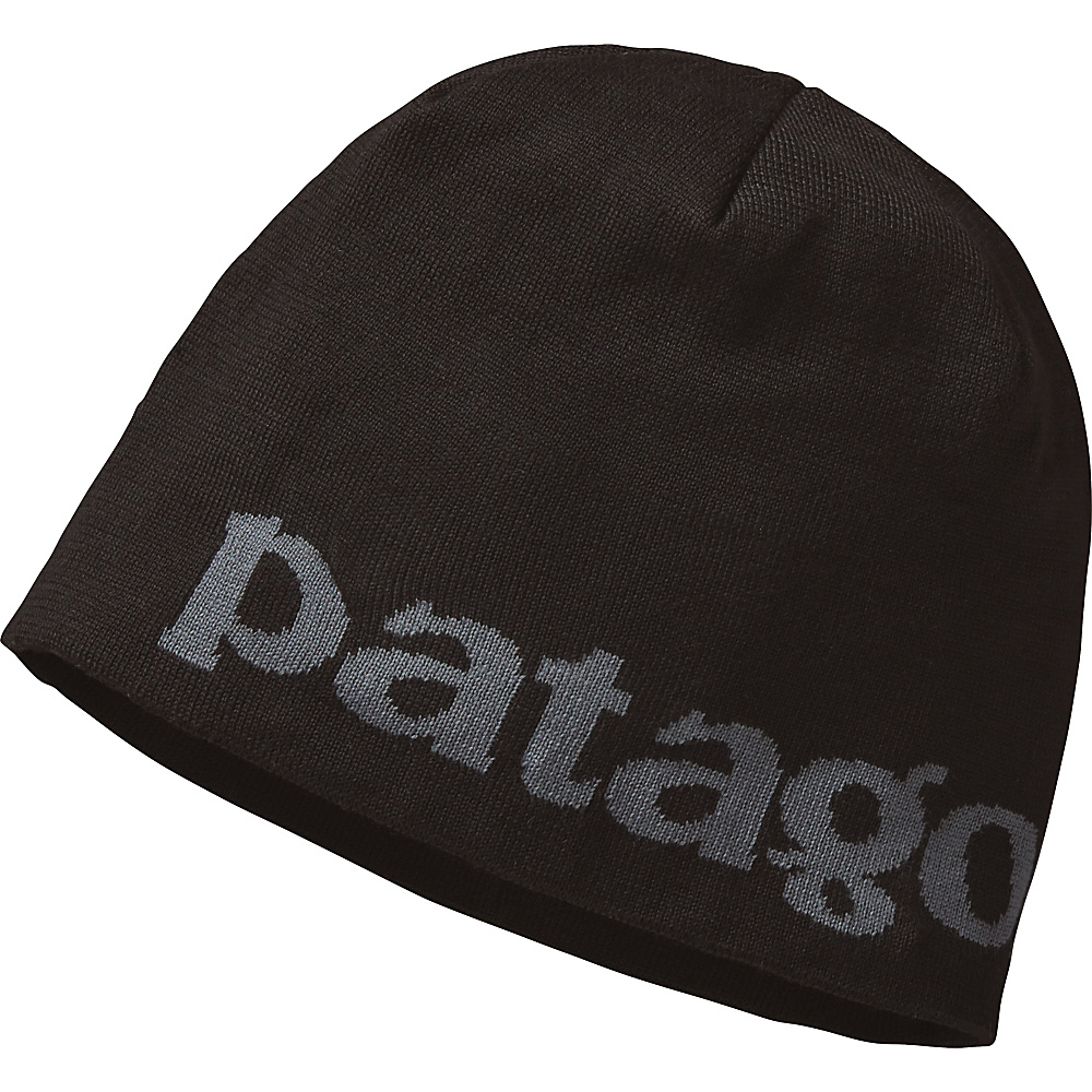 Patagonia Beanie Hat One Size - Logo Belwe: Black - Patagonia Hats/Gloves/Scarves - Fashion Accessories, Hats/Gloves/Scarves
