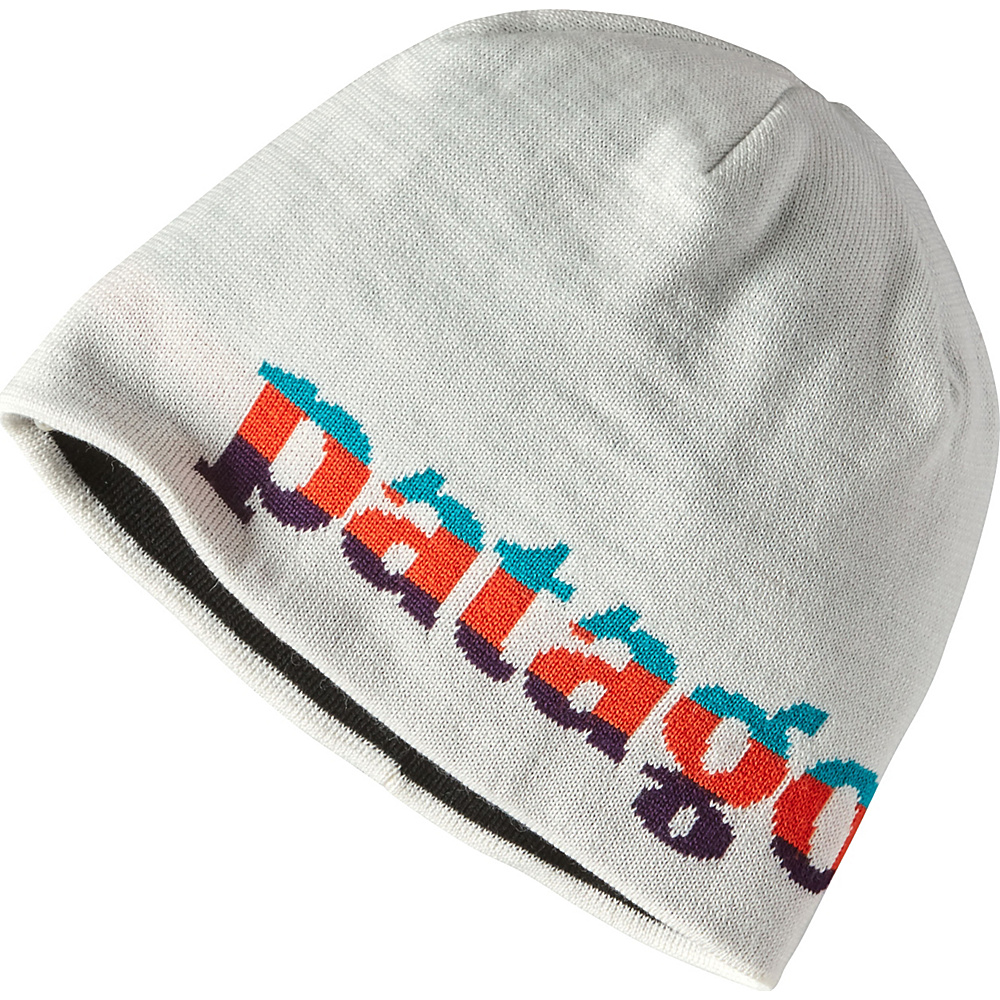 Patagonia Beanie Hat One Size - Logo Belwe Mini: Birch White - Patagonia Hats/Gloves/Scarves - Fashion Accessories, Hats/Gloves/Scarves