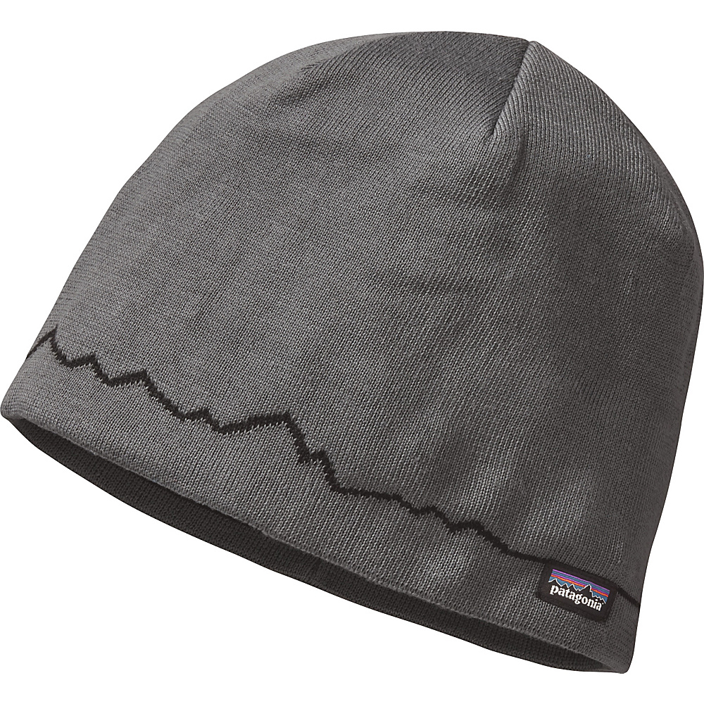Patagonia Beanie Hat One Size - Fitz Roy Line: Forge Grey - Patagonia Hats/Gloves/Scarves - Fashion Accessories, Hats/Gloves/Scarves