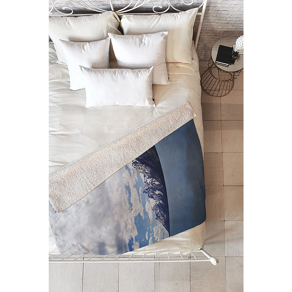 DENY Designs Leah Flores Sherpa Fleece Blanket Ice Blue Grand Tetons x Colter Bay DENY Designs Travel Pillows Blankets