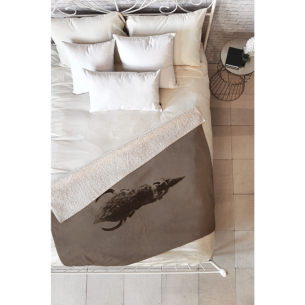 DENY Designs Leah Flores Sherpa Fleece Blanket Sepia Old West DENY Designs Travel Pillows Blankets