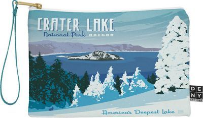 Deny Designs National Parks Pouch Ice Blue - Crater Lake National Park - Deny Designs Travel Wallets