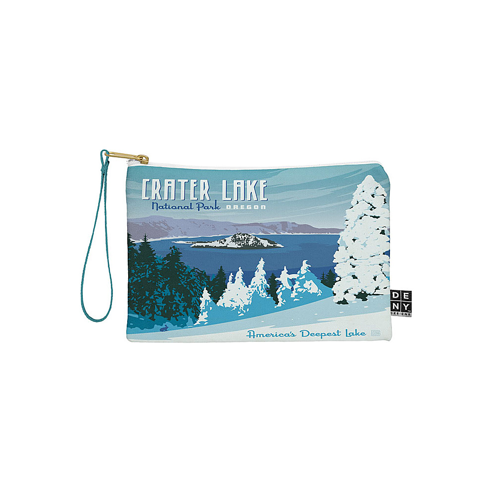 DENY Designs National Parks Pouch Ice Blue Crater Lake National Park DENY Designs Travel Wallets