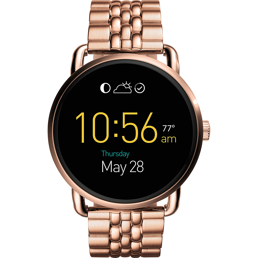 Fossil Q Wander Stainless Steel Touchscreen Smartwatch Rose Gold - Fossil Wearable Technology